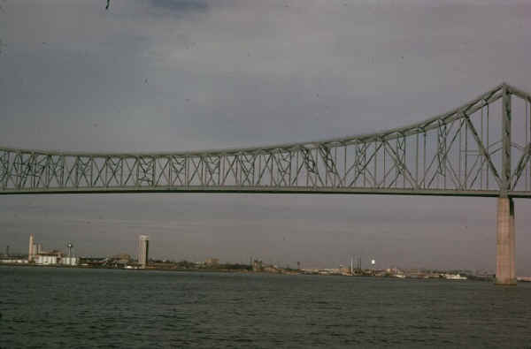 Commodore Barry Bridge; 1974 Photo by Dr. Stan Smith, courtesy of Dave Smith