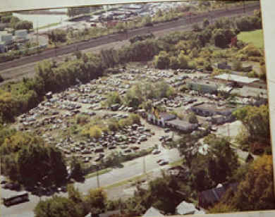 Joe's Junkyard, aerial view; Photo courtesy of Joe's granddaughter, Lisa Kereszi