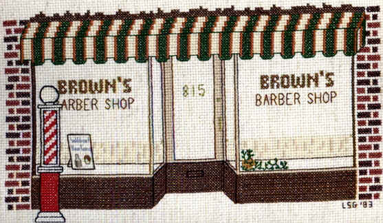 Barber Shops Near My Location : Brownies Barber Shop 8th St. near Welsh, opposite the Boyd Theatre