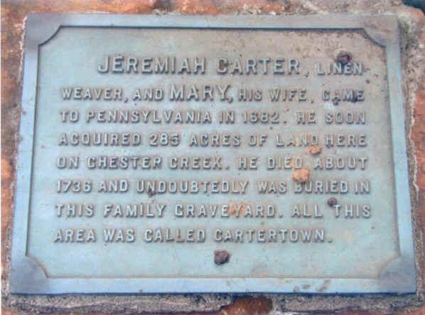 Carter Cemetery; Photo courtesy of Ben Jones
