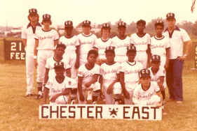 Chester East Little League, 1979; Photo courtesy of Fred Ungarino