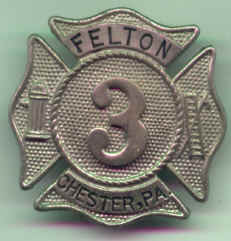 Harvey W. Ritter's Felton Fire Company Badge, courtesy of his daughter, Alice Ritter