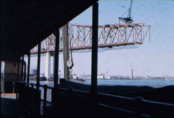 Commodore Barry Bridge Construction - 1973; Photo courtesy of Bill Folger, Media, PA