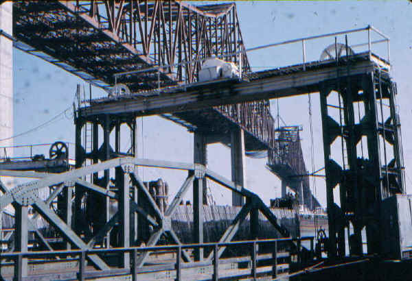 Commodore Barry Bridge Construction & Ferry Slip - 1973; Photo courtesy of Bill Folger, Media, PA