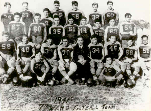7th Ward Football Team, 1941; Photo courtesy of Sylvia Walls