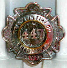 Franklin Fire Badge; Courtesy of Anthony R. Guzzo
