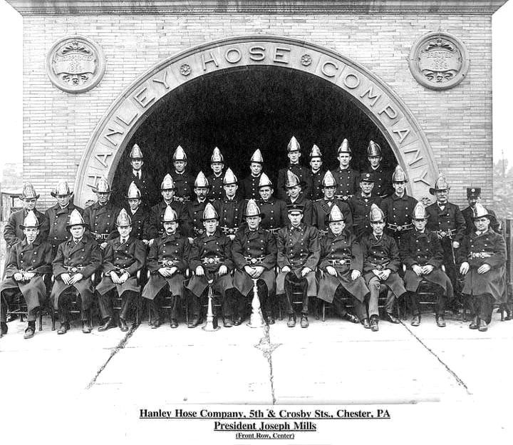 Early Hanley Hose Company Members; Photo courtesy of William H. Crystle, 3rd