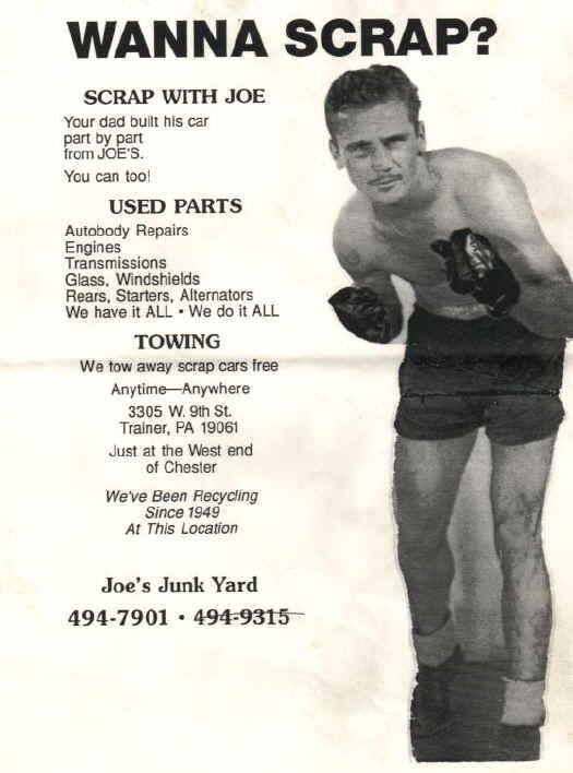 Joe's Junkyard Ad; Courtesy of Paul Crowther