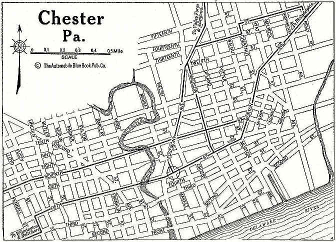 west chester pa map