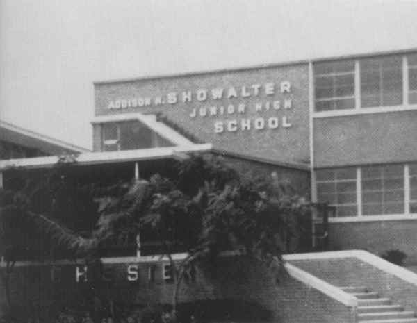 Showalter Junior High School; Photo couresty of Mary Constantini Larner