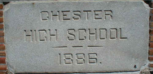 Original Chester High School stone