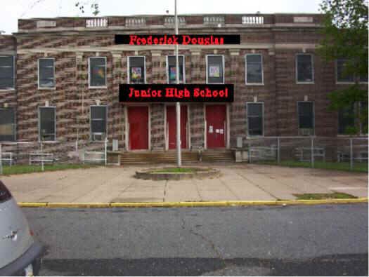 Frederick Douglas Jr. High School; May 2004 photo courtesy of Marie Constantini Larner