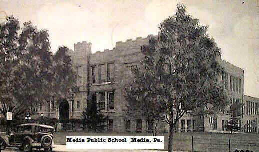 Media High School; Photo courtesy of Harvey S. Martin, Class of 1949