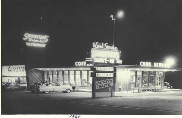 Shooster's Restaurant, 1952; Photo courtesy of Mr. Jack Swerman, AIA