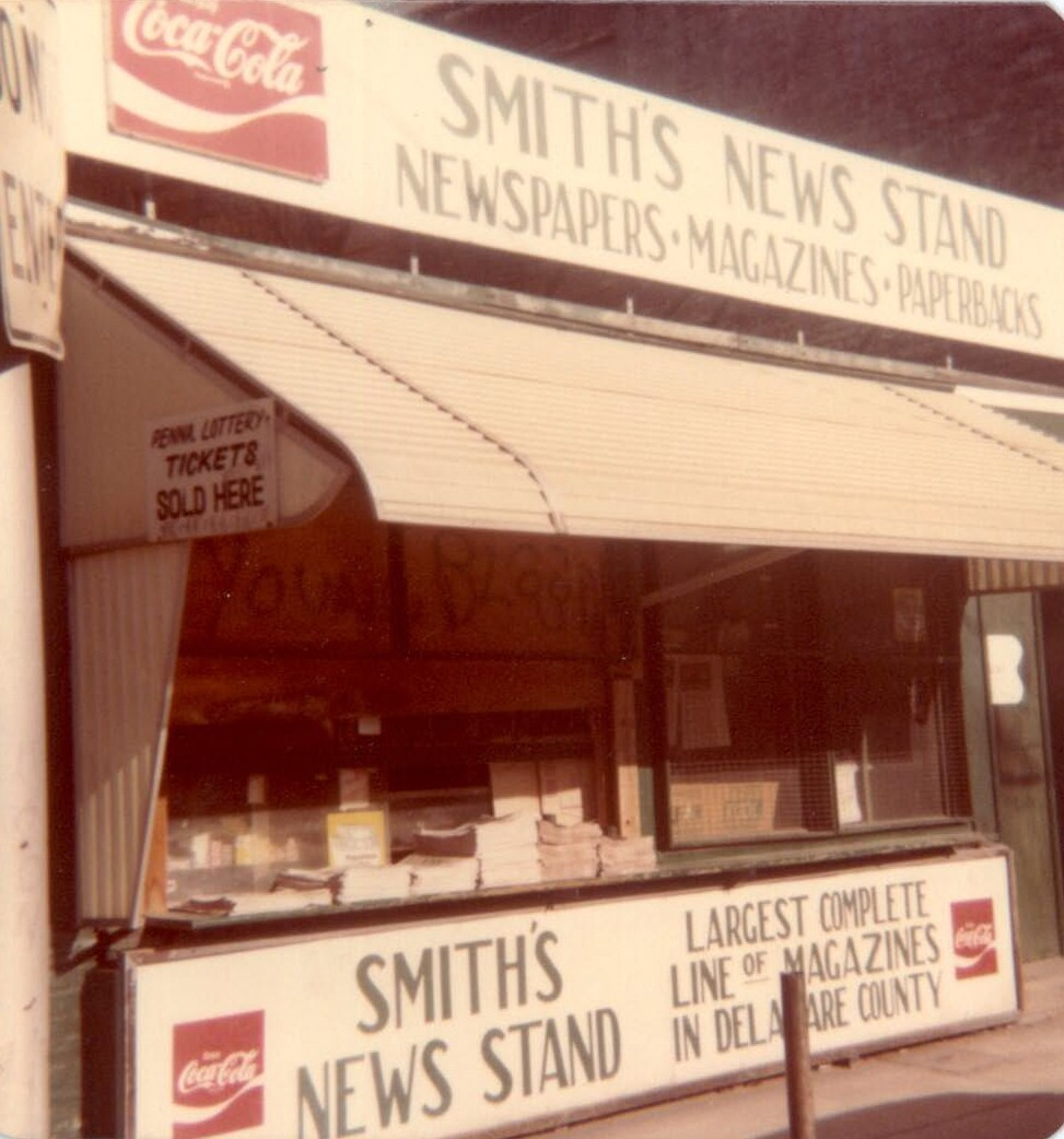 Smith's News Stand; Photo courtesy of Robert Smith, West Palm  Beach, FL
